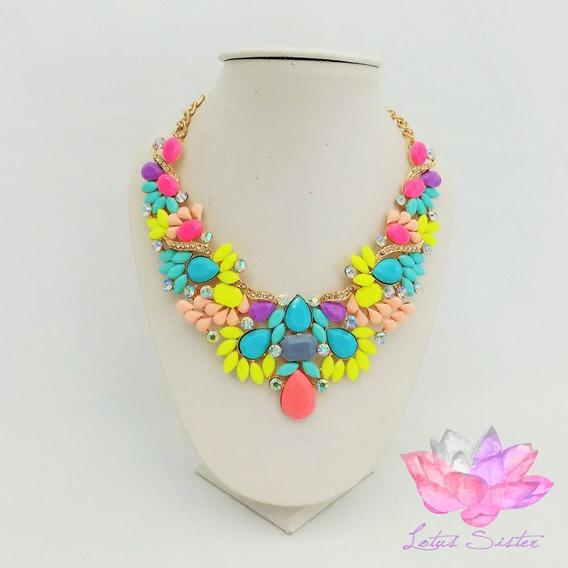 Collar Casual De Dama Con Piedras De Resina Multicolor (pz)