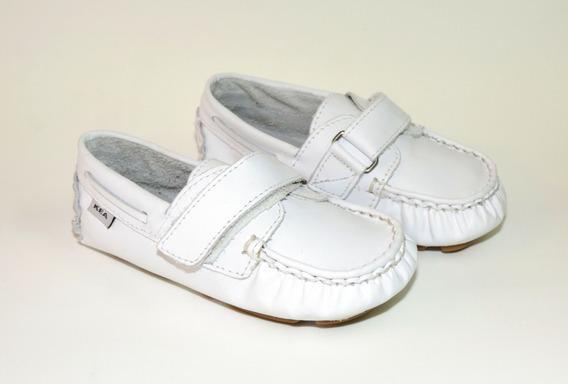 Mocassim Infantil Branco Kea