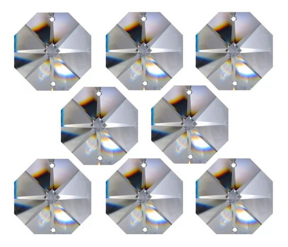 Castanha 14mm Cristal K9 1000 Pçs Argola Inox 10mm 1000 Pçs
