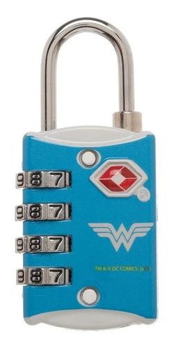 Imagen 1 de 2 de Candado Seguridad Combinación Wonder Woman