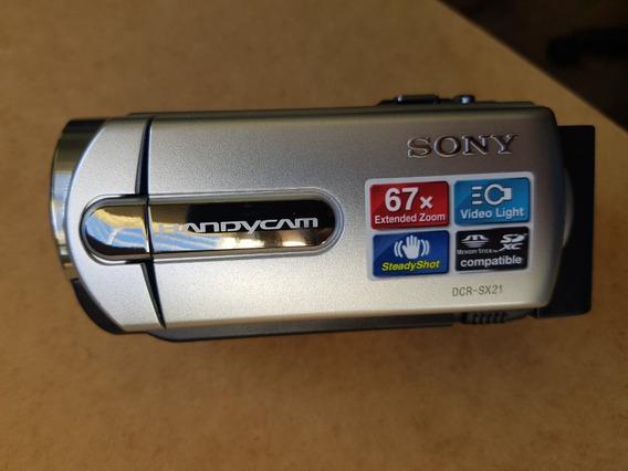 Câmera Sony Handycam Dcr-sx21 Zoom Óptico 67x, Digital 1800