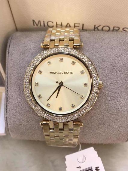 Relógio Michael Kors Mk3216 Small Dourado Original Na Caixa