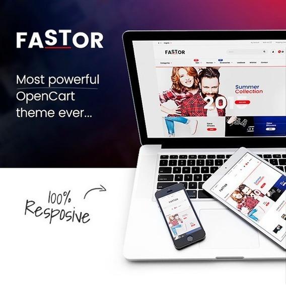 Fastor V2.3 - Theme Responsive Opencart 2.x E 3.x