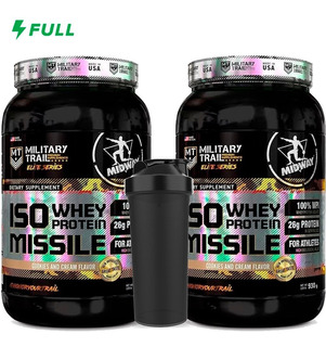 Combo 2 Iso Whey Isolado = 1,8kg - Midway Military Trail