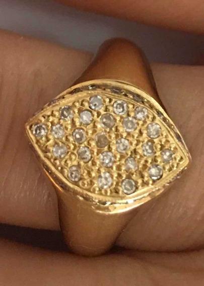 Anel De Diamantes Em Ouro18k