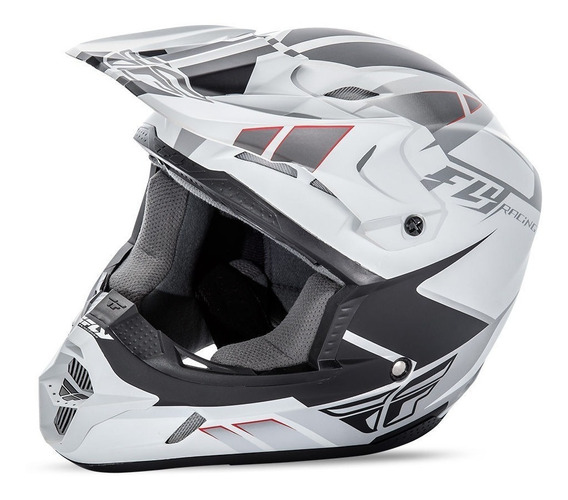 Cascos Atv Motos Motocross Blanco Kinetic Impulse Fly Racing
