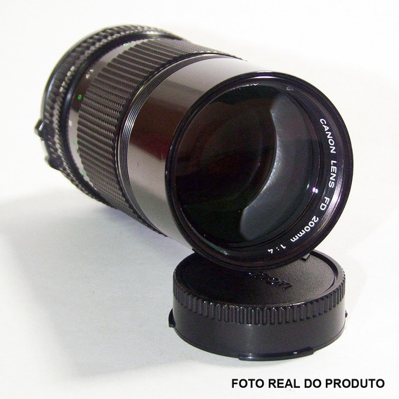 Lente Objetiva Canon Fd 200mm - F/4 - Foco Manual - 100% Ok