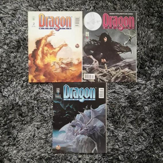 Kit Com 3 Revistas Dragon Magazine - Números 2, 4 E 7