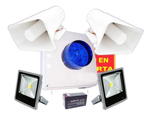 Imagen 1 de 2 de Kit Alarma Vecinal Inalambrica Dos Sirena 30w Estrobo Led A2