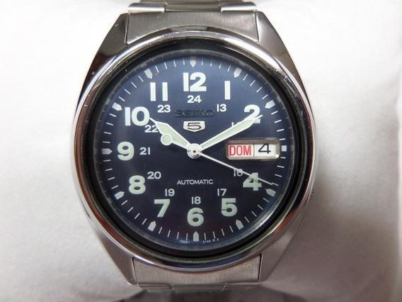 Relógio Seiko 5 Automatico Masculino Original Azul - Lindo!