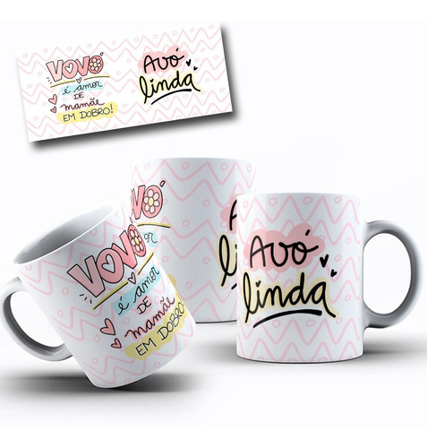 Caneca Presente Vovó Avó Linda