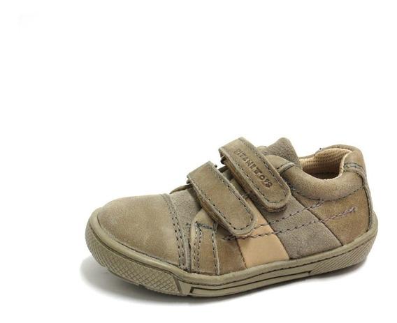 Zapatillas Niños Cuero Doble Abrojo Bajas Titanitos 20 Al 25