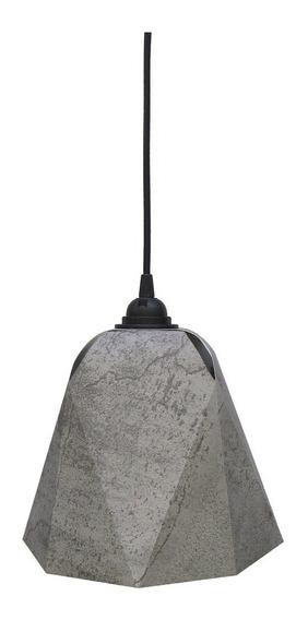 Lampara Ocre. Bell Colgante Concreto