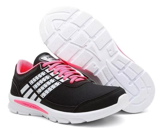 Tênis Caminhada Feminino Esporte Zeus Confortável E Macio