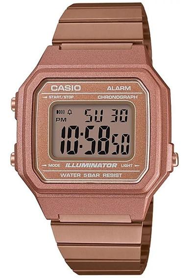 Relógio Casio Feminino Vintage B650wc-5adf Rose Digital