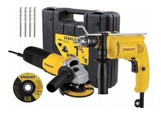 Taladro Percutor 600w + Amoladora 710w Stanley Shg6070ka