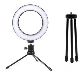 Iluminador Led Ring Light Com Tripe Usb 26cm Foto Make Up