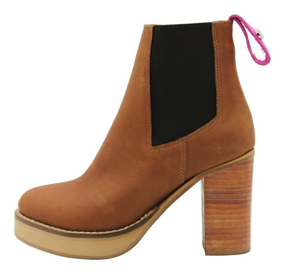 Zapatos Botas Botinetas Mujer Cuero Suela Taco Leblu 847