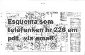 Esquema Som Telefunken Hr 226 Hr226 Em Pdf Via Email