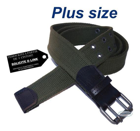 Cinto Plus Size Masculino Lona 2 Bordas Larg 4cm L39 Vd 02