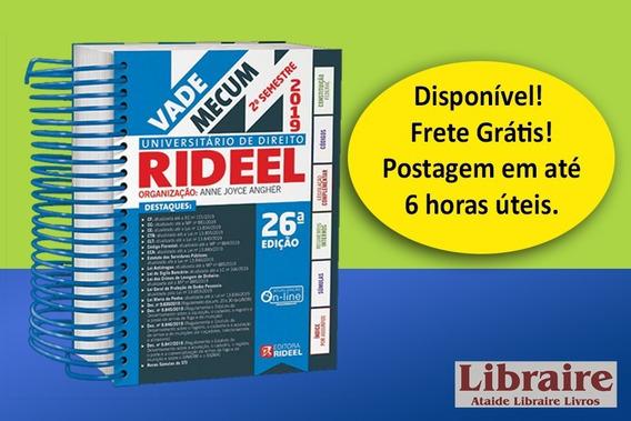 Vademecum Universitário 26a Ed. 2019 Rideel Segundo Semestre