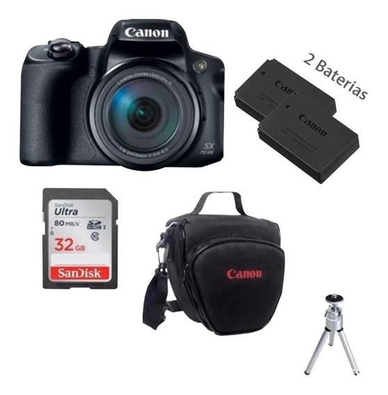Câmera Canon Powershot Sx70 + Bolsa + 32gb +bateria+nota