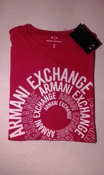 Playera Casual, Armani Exchange Colo Rojo, Nueva