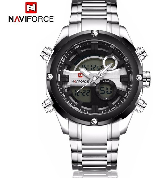 Reloj Militar Naviforce Cronometro Hombre