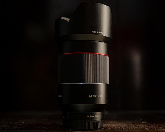 Lente Rokinon Af Sony Fe Mount 35mm F/1.4. Leia Descrição