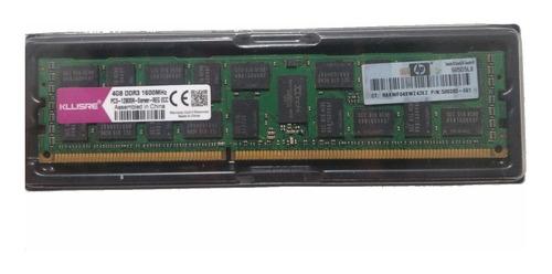 Memória Ram Ddr3 Ecc 4gb 1600 Mhz Servidor Hp/kllisre X79