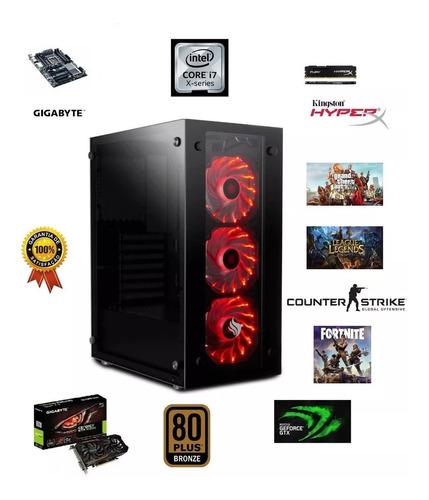 Pc Cpu Gamer I7 8gb Ssd240g + Hd 1tera Autocad Pubg Fortnite