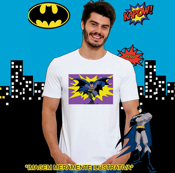 Camiseta Masculina Dc Batman Super Herói Hq