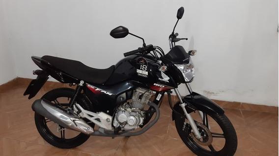 Honda Cg 160 Fan 2018 Preta