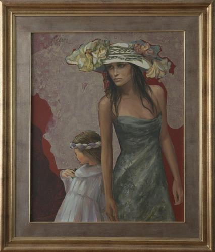 Cuadro Pintura Nacional De Ángel Tejera 98 X 84