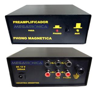 Preamplificador Phono Magnetica Riaa Para Toca Discos + Aux