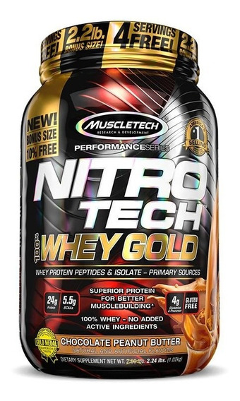 Nitro Tech 100% Whey Gold (999g) Muscletech