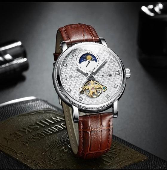 Relógio Masculino Tevise Automático Funcional Barato E.107