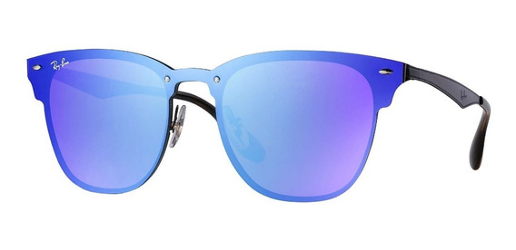 Óculos De Sol Ray Ban Rb3576n 153/7v 01-47 Blaze Clubmaster Azul Original