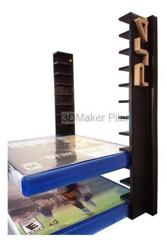Soporte Organizador Pared 12cajas Bd Dvd Juegos Ps4 Ps3 Xbox