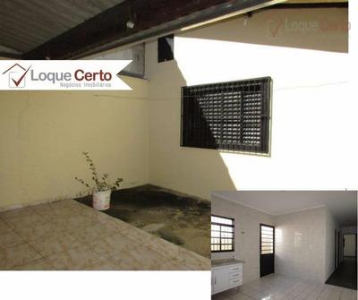 Casa Para Locação, 02 Dormitórios, Quintal, Vila Soriano, Indaiatuba. - Ca0161