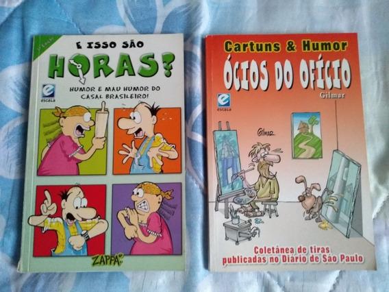 Dois Livros De Tiras/humor Da Editora Escala