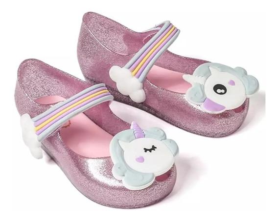 Zapatos Niña Mini Melissa Unicornio 13 A 18 Cm