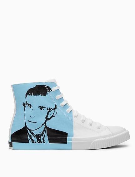 Tenis Calvin Klein Edición Especial Andy Warhol Azul