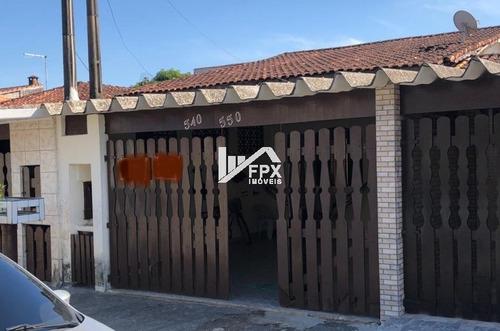Imagem 1 de 12 de Ótima Casa No Litoral Lado Praia Com 02 Dormitórios - Ca451