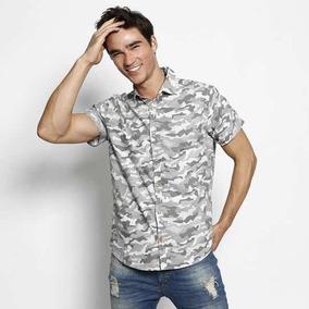 Camisa Geométrica - Cinza & Branca - Malwee