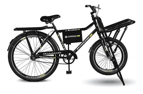 Bicicleta Aro 26 Cargo 4.7 A-36 E V-brake Preto Kyklos