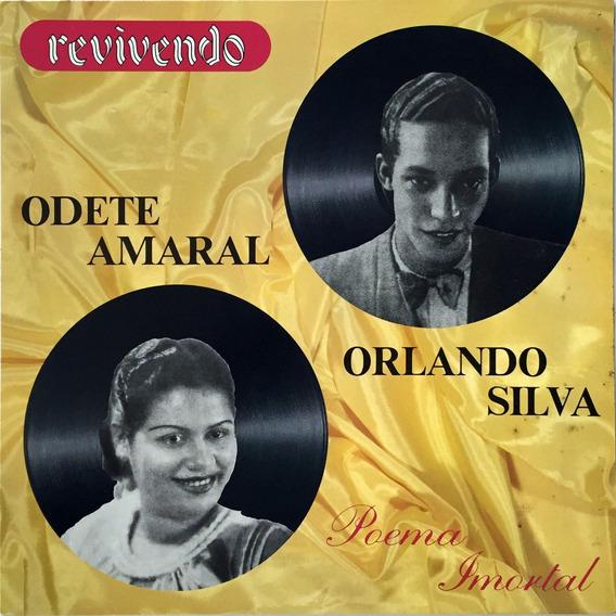 Odete Amaral - Orlando Silva - Poema Imortal - Lp- Excelente