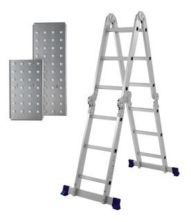 Escada 4x3 Multifuncional Alumínio 12 Degraus C/ Plataforma