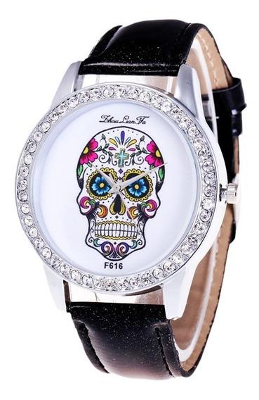 Relógio De Pulso Caveira Mexicana