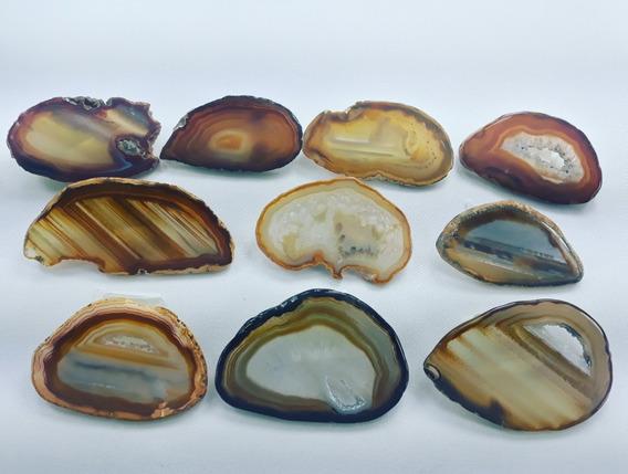 Pingentes Pedras Brasileiras Agatas Sem Furo 4a7cm 20 Unid